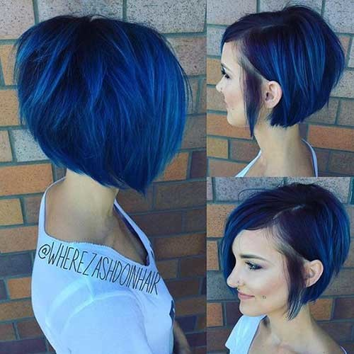 Shave-Side Asymmetrical Bob Haircuts