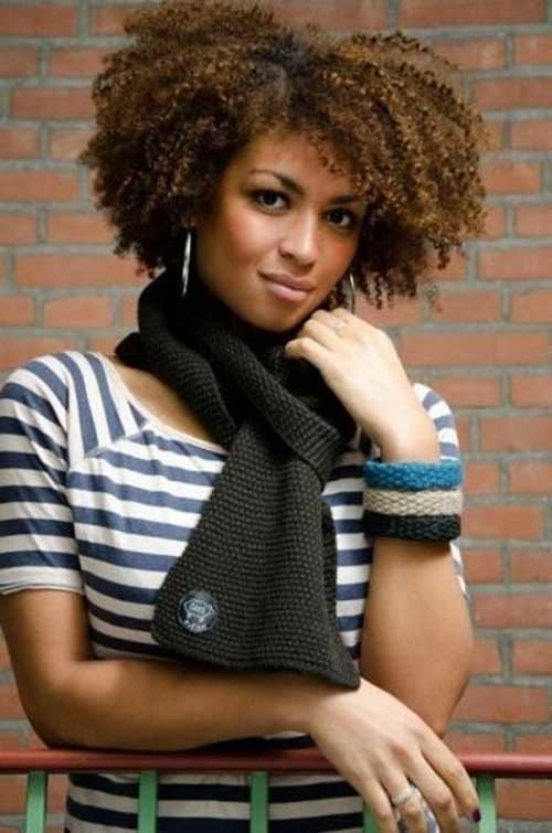 Short-Afro-Curly-Natural-Hairstyle Good Short Natural Curly Haircuts