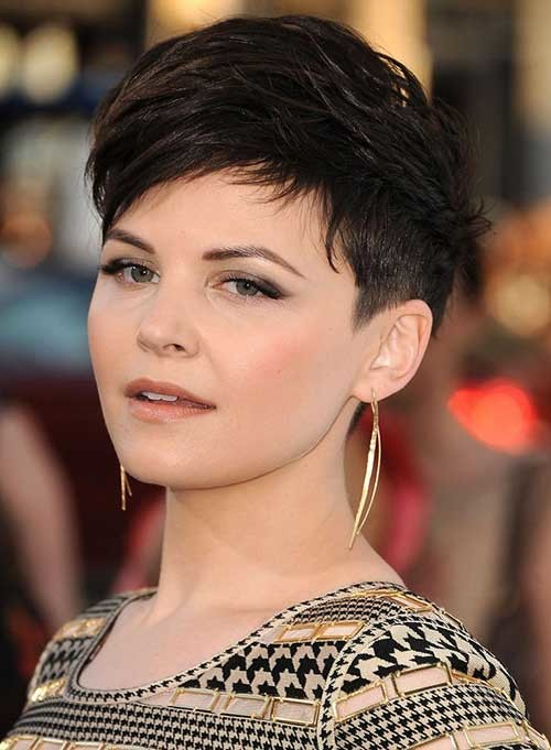 Short-Chic-Pixie-Dark-Hair Short Hairstyles for Dark Hair