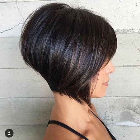 Short-Dark-Bob New Bob Hairstyles 2019