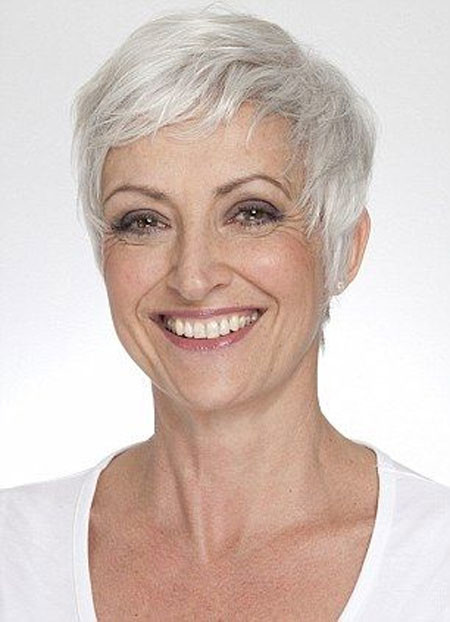 Short-Grey-Filled-Pixie Short Hair for Older Women