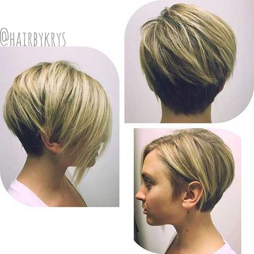 Short-Haircut-2019-for-Round-Face Must-See Straight Hairstyles for Short Hair