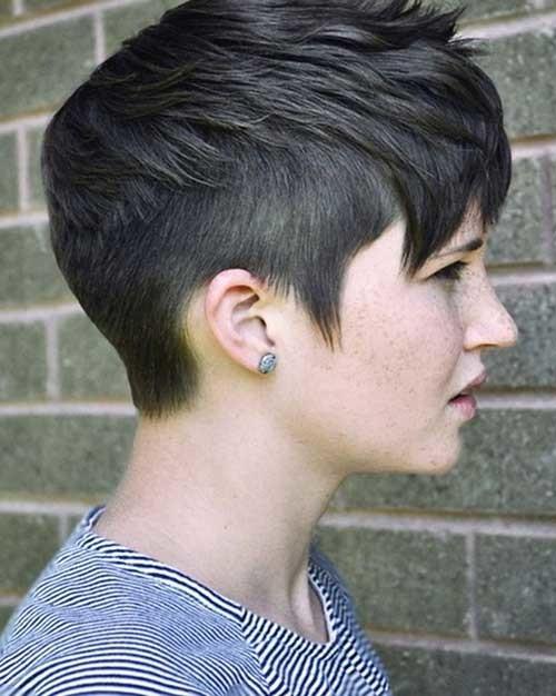 Short-Hairstyle-Dark-Pixie-Hair-for-Girls Short Hairstyles for Dark Hair