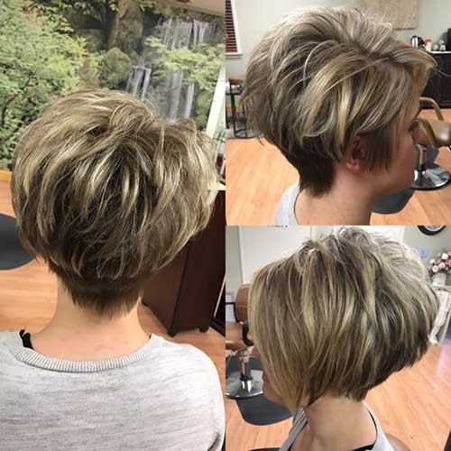 Short-Pixie-Bob-Style Short Haircuts for Older Women 2019
