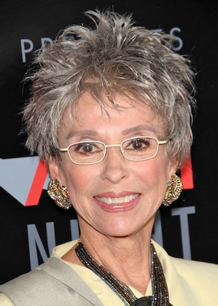 Short-Pointy-Grey-Hair Short Hair for Older Women
