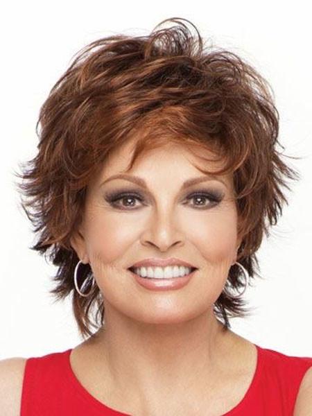 Short-Spiked-Voluminous-Red-Hair Short Hair for Older Women