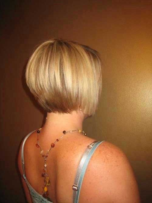Short-Stacked-Bob-Fine-Hair Must-See Straight Hairstyles for Short Hair