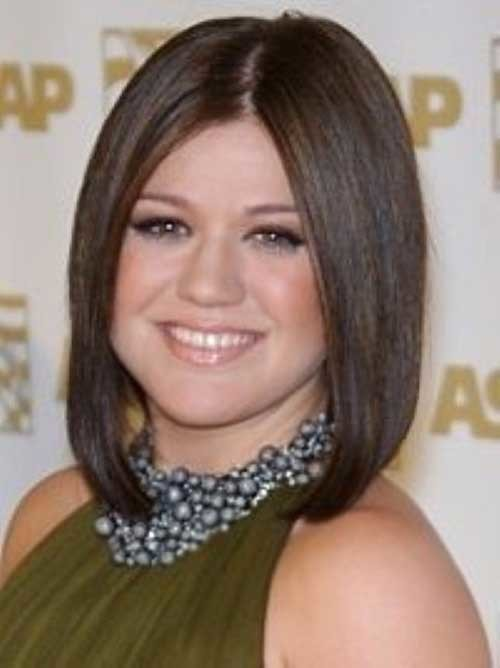 Short-Straight-Bob-Cut-for-Cute-Round-Faces Bob Cuts for Round Faces