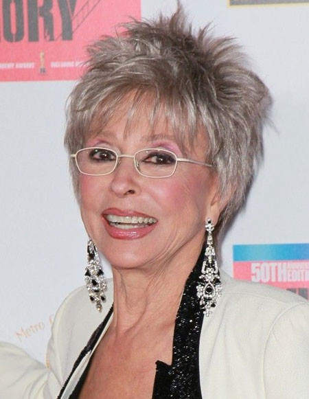 Short-Youngish-Grey-Spikes Short Hair for Older Women