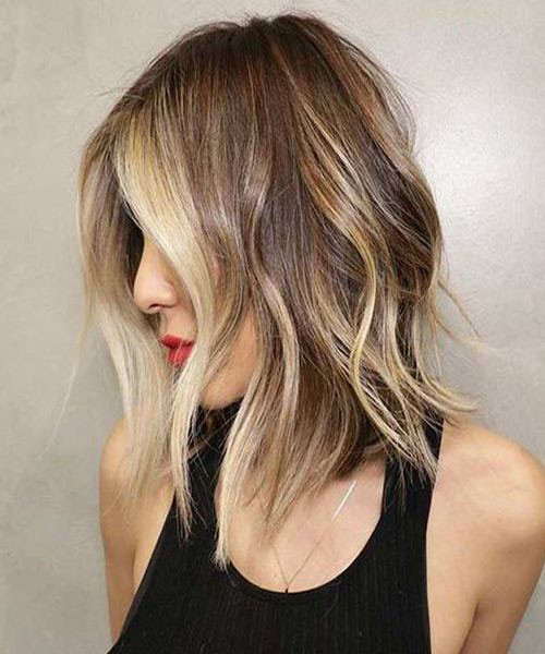 Short-to-Medium Beautiful Brown to Blonde Ombre Short Hair