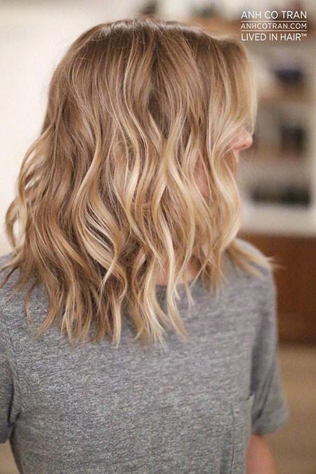 Shoulder-Length-Hair Popular Short Blonde Hair 2019