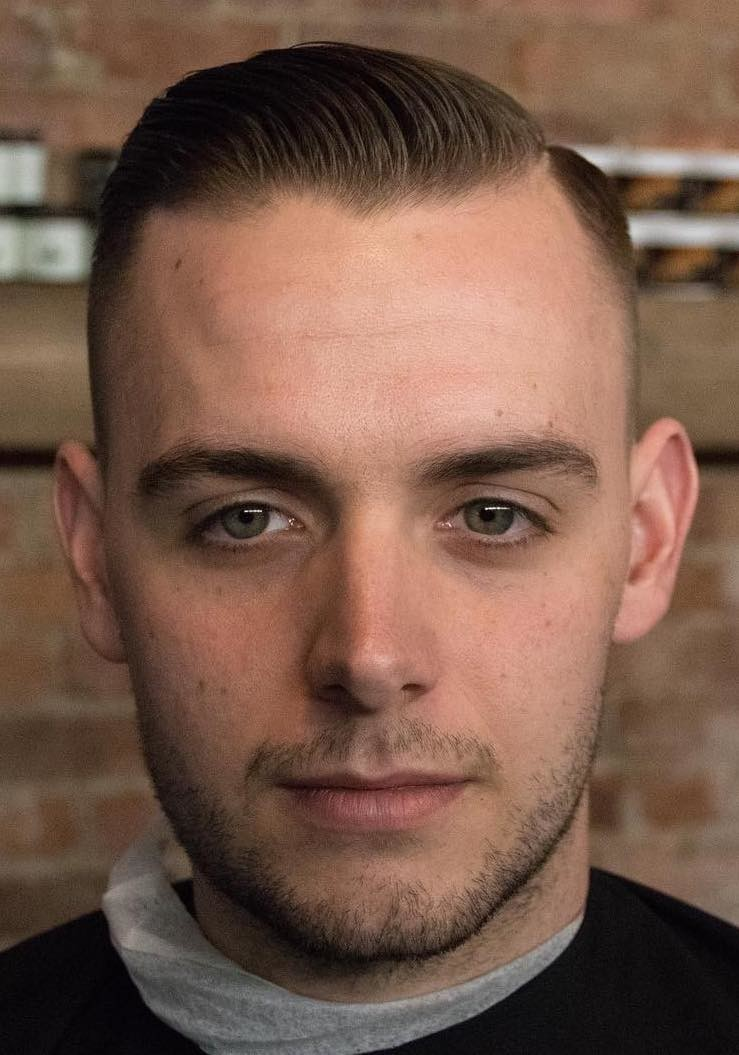 Side-Combed-Thin-Hair Selected Hairstyles for Men With Big Foreheads