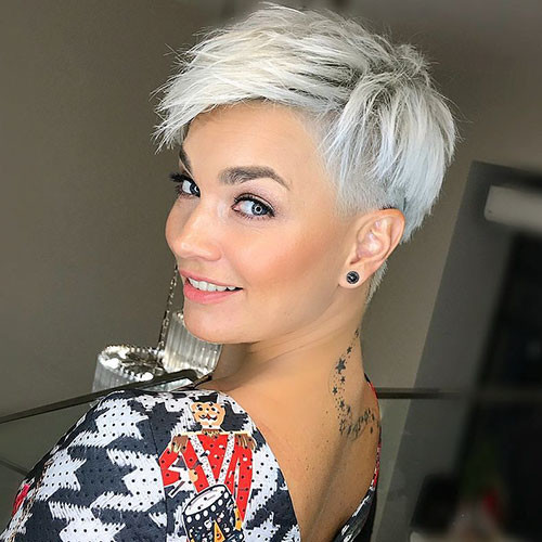 Side-Shaved-Hair Best New Pixie Haircuts for Women