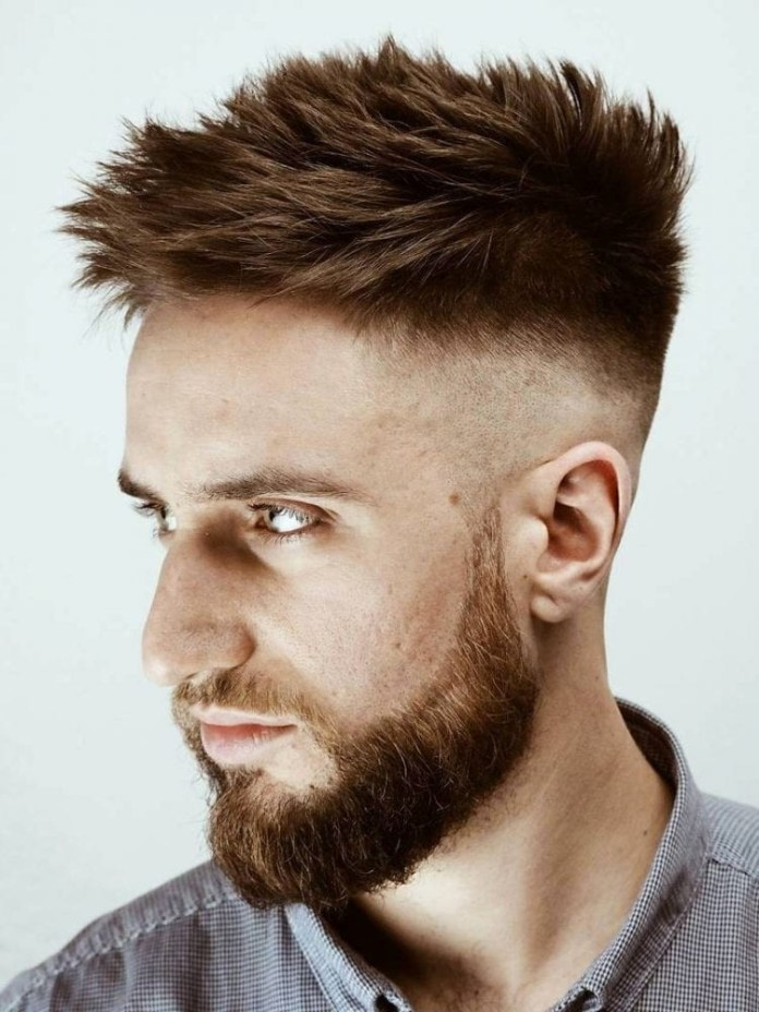 Skin-Fade-Undercut-with-Spikes Stylish Undercut Hairstyle Variations in 2019: A Complete Guide