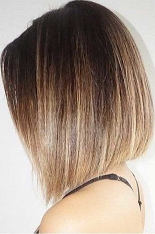 Smooth-Straight-Bob-Ombre-Hairsytle Beautiful Ombre Bob Hairstyles