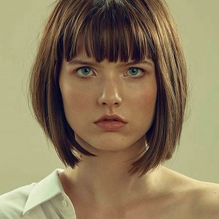 Straight-Bang New Bob Hairstyles 2019