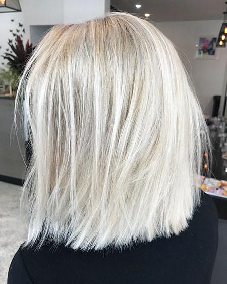 Straight-Hair Popular Short Blonde Hair 2019