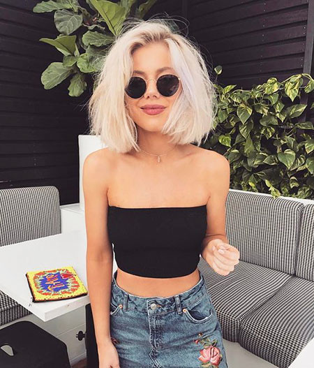 Summer-Hair Popular Short Blonde Hair 2019