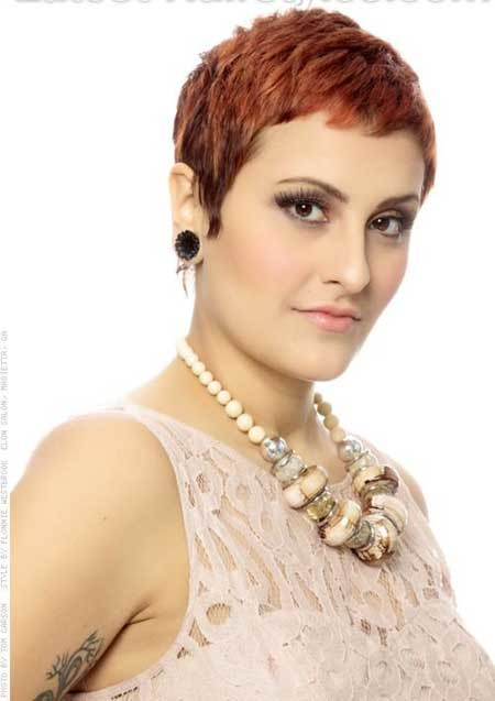 Super-Short-Pixie-Hairdo-with-Messy-Layers Short Pixie Cuts for Women