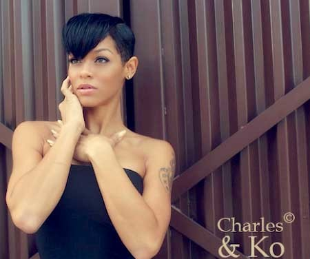 The-Layered-Pixie-Hairstyle-with-Awesome-Bangs Nice Short Hairstyles for Black Women