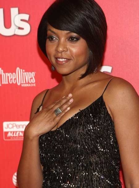 The-Pretty-and-Fabulous-Asymmetric-Bob-Hairstyle Nice Short Hairstyles for Black Women