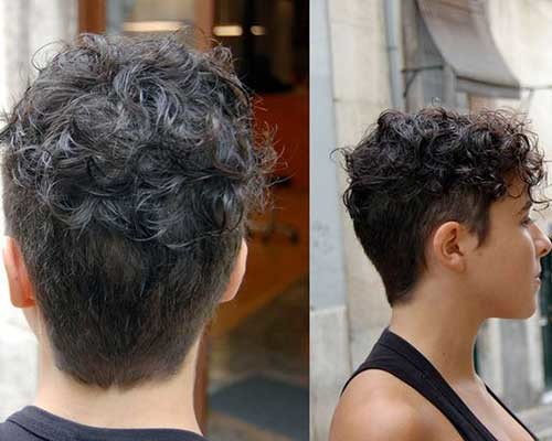 Very-Short-Curly-Hairstyle Cute Curly Short Hairstyles for Ladies