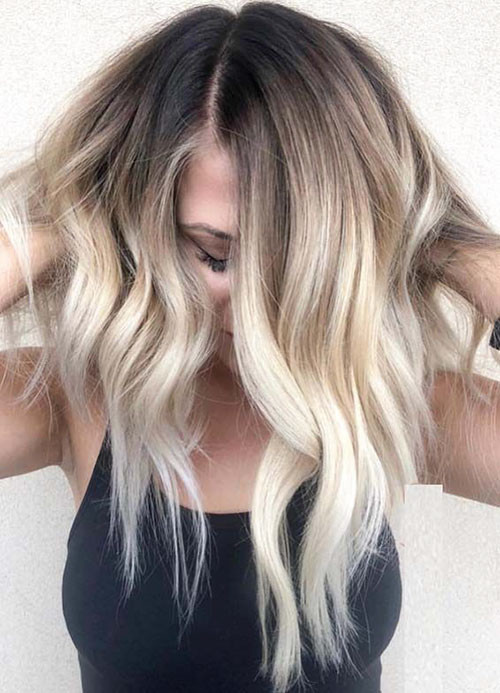 Wavy-Hair-1 Beautiful Brown to Blonde Ombre Short Hair