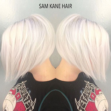White-Hair New Bob Hairstyles 2019