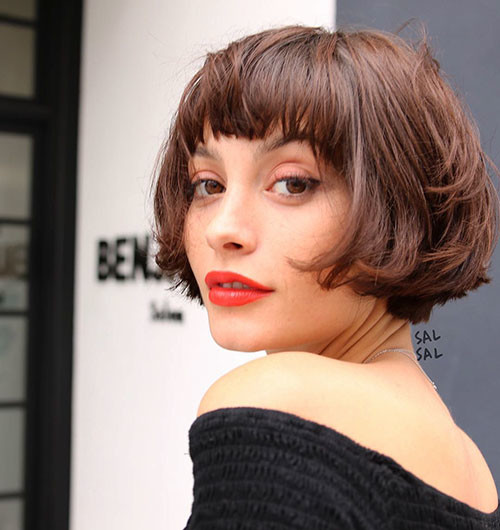 short-layered-bob-hairstyles-with-bangs Best Short Layered Bob With Bangs
