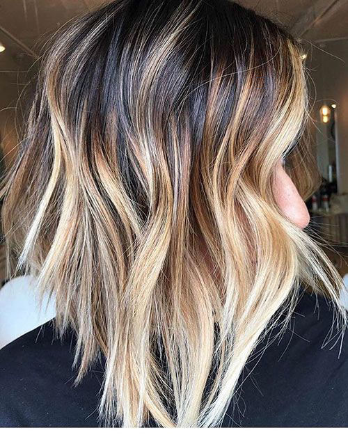 13-blonde-and-brown-highlights-on-short-hair Beautiful Brown to Blonde Ombre Short Hair