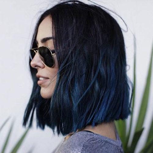 20-blue-black-short-hair Popular Short Blue Hair Ideas in 2019