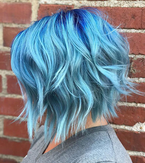 31-short-hair-with-blue-highlights Popular Short Blue Hair Ideas in 2019