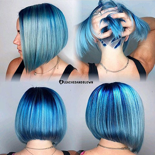 33-short-hair-with-blue-highlights Popular Short Blue Hair Ideas in 2019