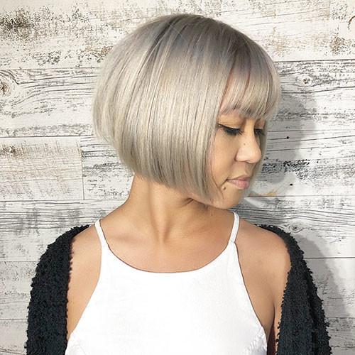35-short-bob-with-bangs Latest Bob Haircut Ideas for 2019