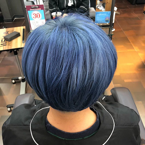 38-black-and-blue-short-hair Popular Short Blue Hair Ideas in 2019