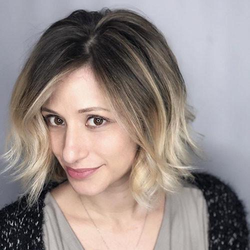 46-short-blonde-brown-hair Beautiful Brown to Blonde Ombre Short Hair