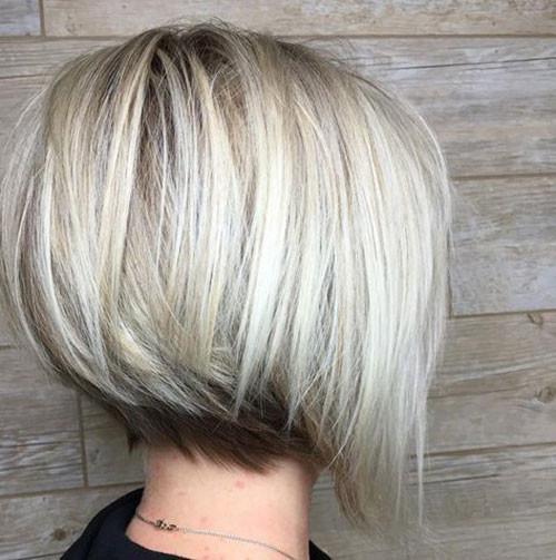 A-Line-Short-Haircut Elegant Short Haircuts for Thick Hair