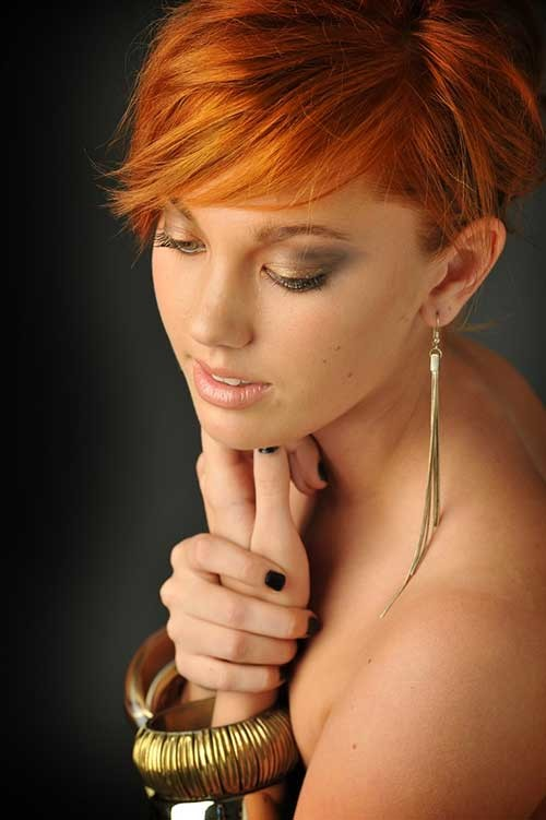 Alluring-Long-Pixie-Copper-Hair Long Pixie Haircuts