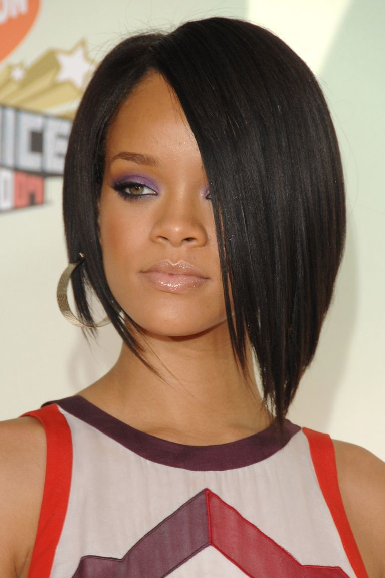 Angled-Bob Best Short Hairstyles for Black Women