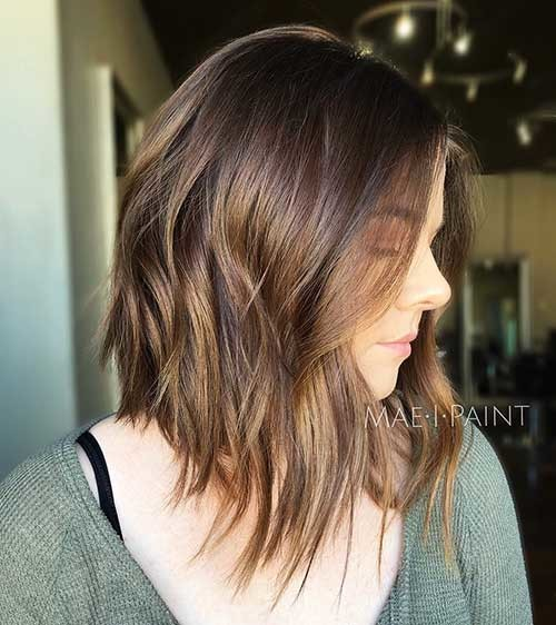 Angled-Light-Brunette-Bob Cool Short Hairstyles You Can Rock This Summer