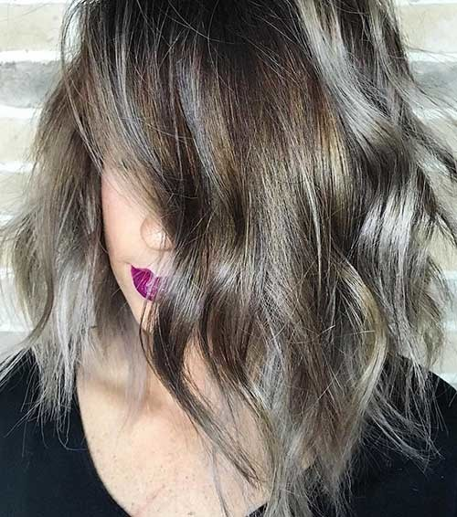 Ash-Colored-Bob Trending Style for Summer: Curly and Wavy Hairstyles
