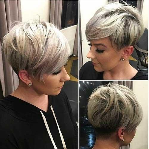 Asymmetrical-Long-Bangs Chic Short Hair Ideas with Bangs