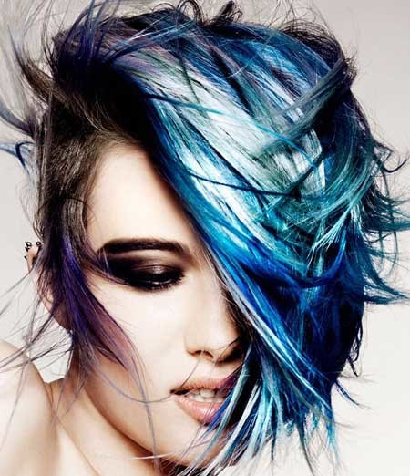 Awesome-and-Artistic-Pixie-Cut-with-Spectacular-Interplay-of-Colors Hair Color for Short Hair 2019