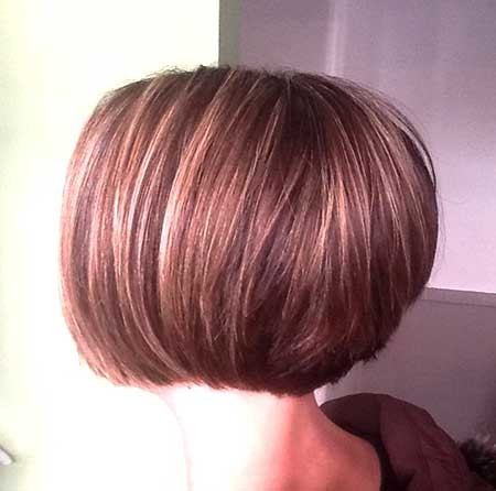 Back-View-of-Simple-Bowl-Shaped-Bob-Hairstyle Pics of Bob Hairstyles 2019