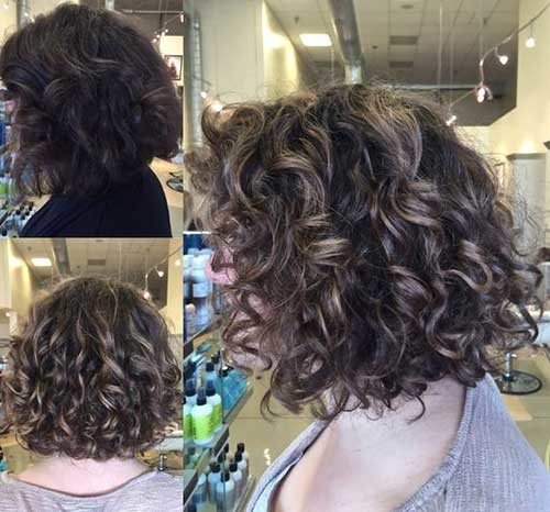 Balayage-on-Natural-Curly-Hair Very Popular Curly Short Hairstyles Every Lady Need to See