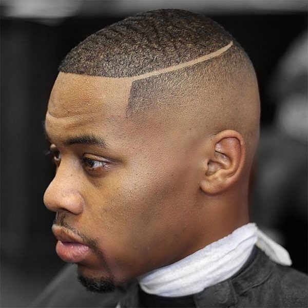 Bald-Fade-with-Hard-Part Must-Try Hairstyles For Black Men