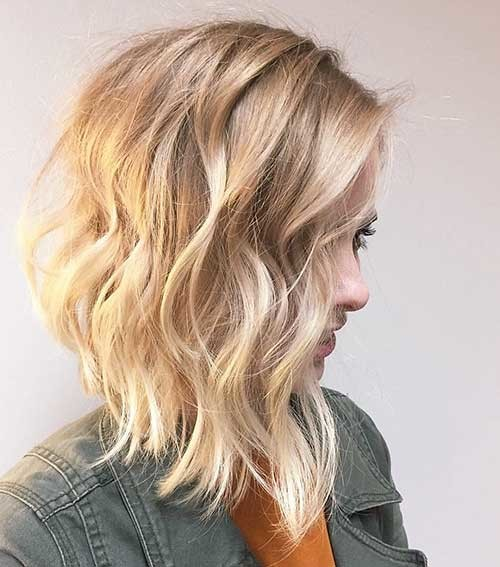 Beautiful-Blonde-Lob Trending Style for Summer: Curly and Wavy Hairstyles