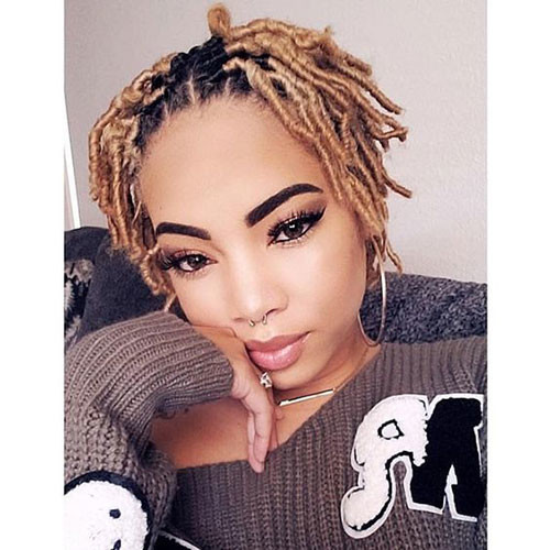Blond-Dreads In Style Short Haircuts for Black Women