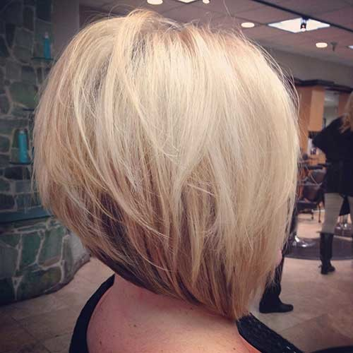 Blonde-A-Line-Bob Short Haircut Pics for Straight Hair
