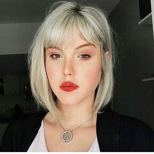 Blonde-Hair-1 Populer Blunt Bob With Bangs 2019